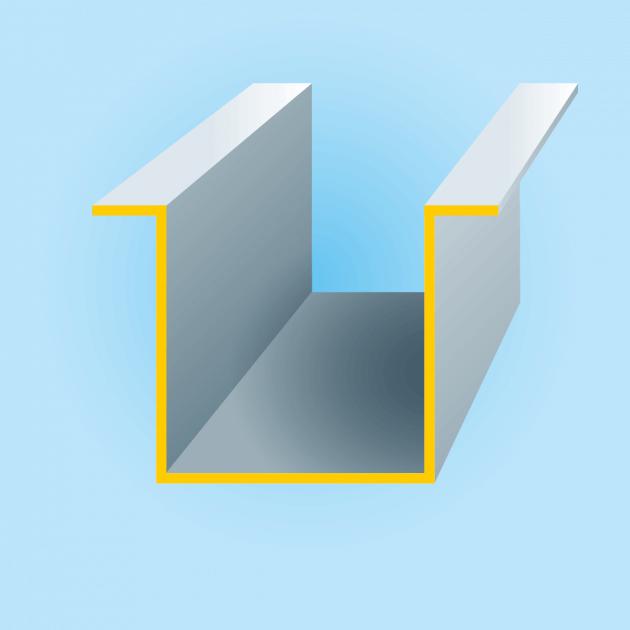 H-Profil aus Stahl verzinkt, Stärke 0,75 mm