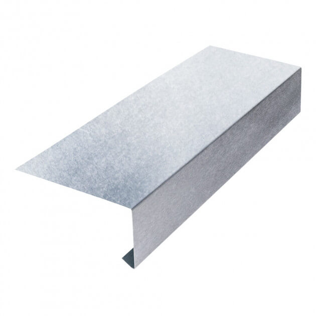 Tropfblech ohne Falz aus Aluminium