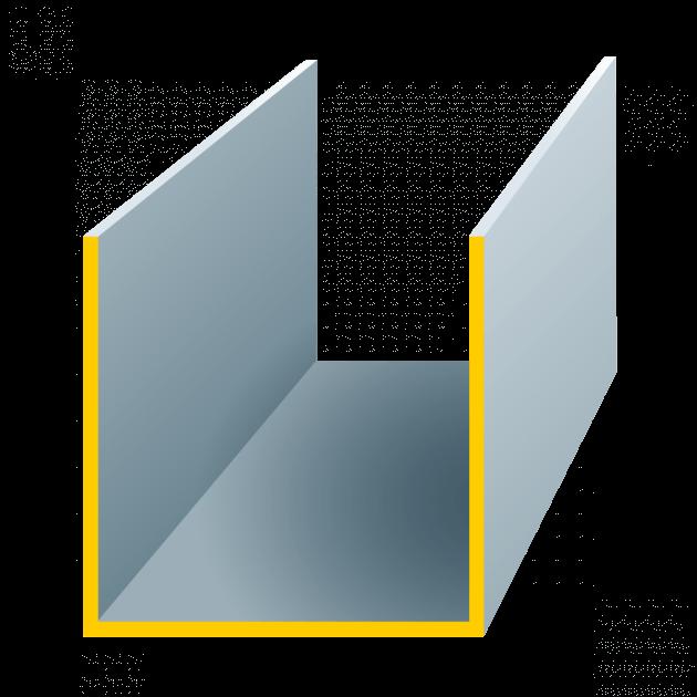 U-Profil aus Stahl, Stärke 1,0 mm