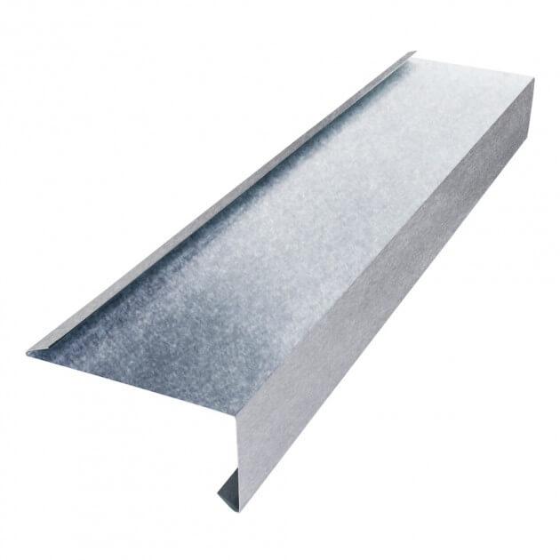 Tropfblech mit Falz aus Aluminium