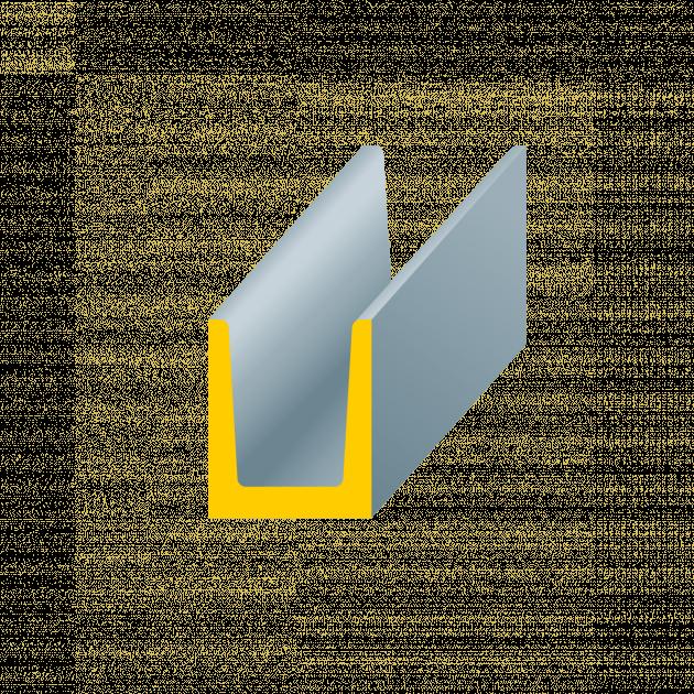 U-Profil aus Stahl