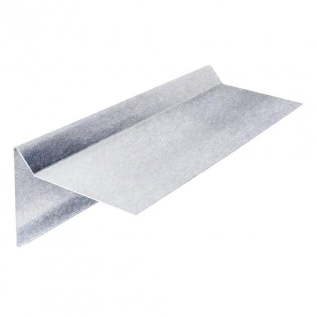 Ortgangblech ohne Falz aus Aluminium