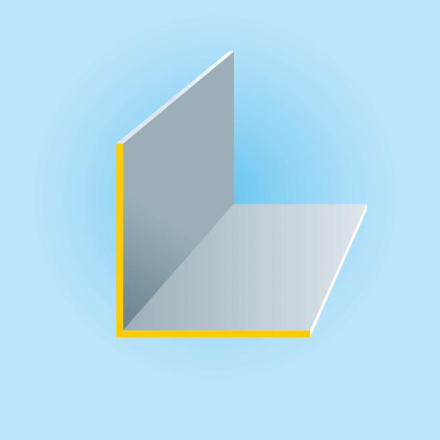 L-Profil aus Titanzink, Stärke 0,70 mm, vorbewittert