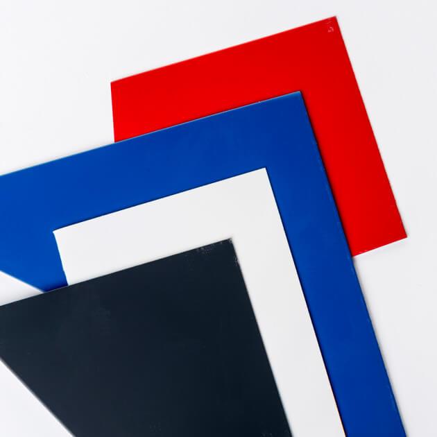 Blechzuschnitt, Stahl verzinkt, Stärke 0,75 mm, farbbeschichtet