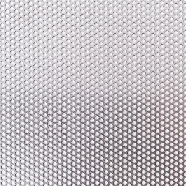 Blechzuschnitt aus Lochblech, Edelstahl, Stärke 1,50 mm, Rundloch 5 mm