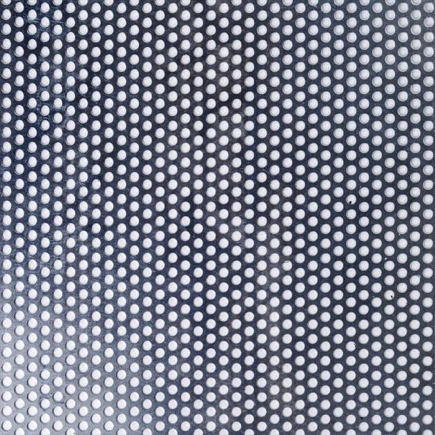 Blechzuschnitt aus Lochblech, Stahl, Stärke 1,50 mm, Rundloch 5 mm