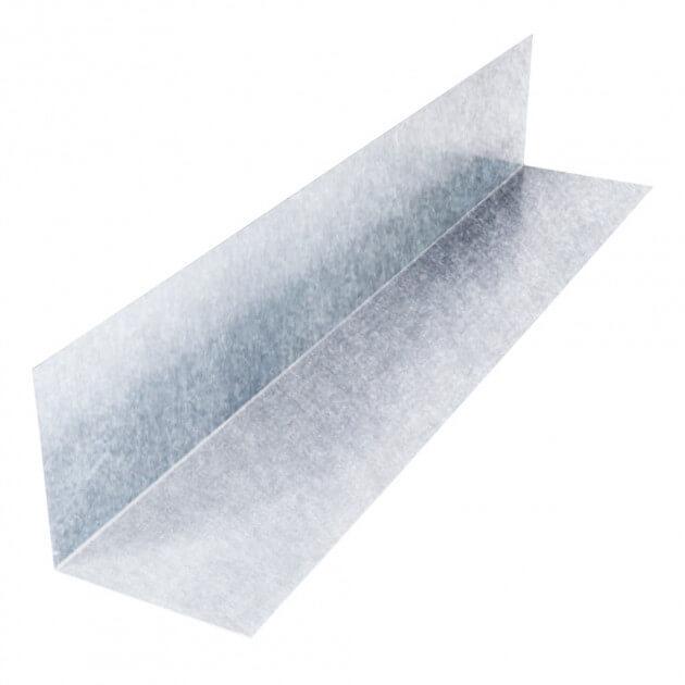 Wandanschlußblech ohne Falz aus Aluminium