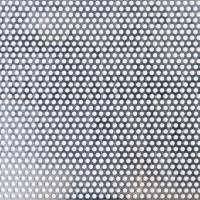 Blechzuschnitt aus Lochblech, Aluminium, Stärke 2,0 mm, Rundloch 5 mm