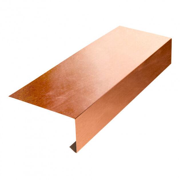 Tropfblech ohne Falz aus Kupfer