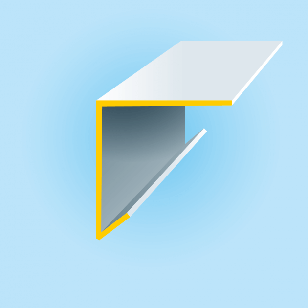 L-Profil mit Tropfkante aus Lochblech Edelstahl, Stärke 1,0 mm, Rundloch 10 mm
