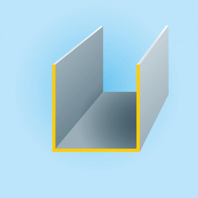 U-Profil aus Titanzink, Stärke 0,80 mm