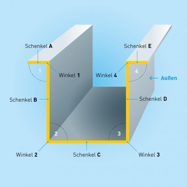 H-Profil aus Titanzink, Stärke 1,00 mm, Rundloch 5 mm