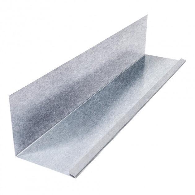 Wandanschlußblech mit 1 Falz aus Aluminium