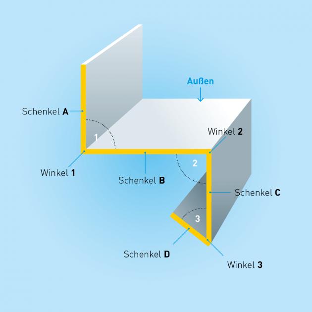 Z-Profil mit Tropfkante aus Stahl verzinkt, Stärke 1,0 mm, Rundloch 5 mm