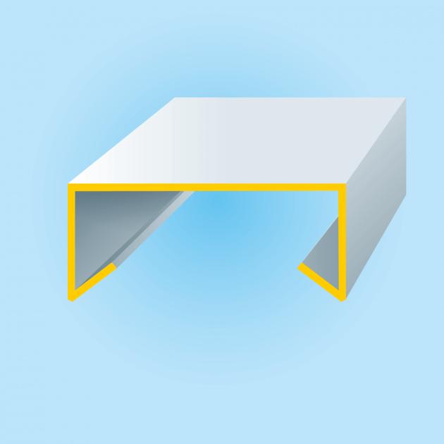 U-Profil mit Tropfkante, Stahl, Stärke 1,00 mm