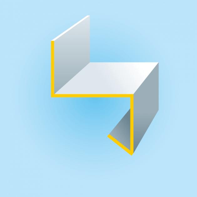 Z-Profil mit Tropfkante aus Aluminium, Stärke 1,0 mm