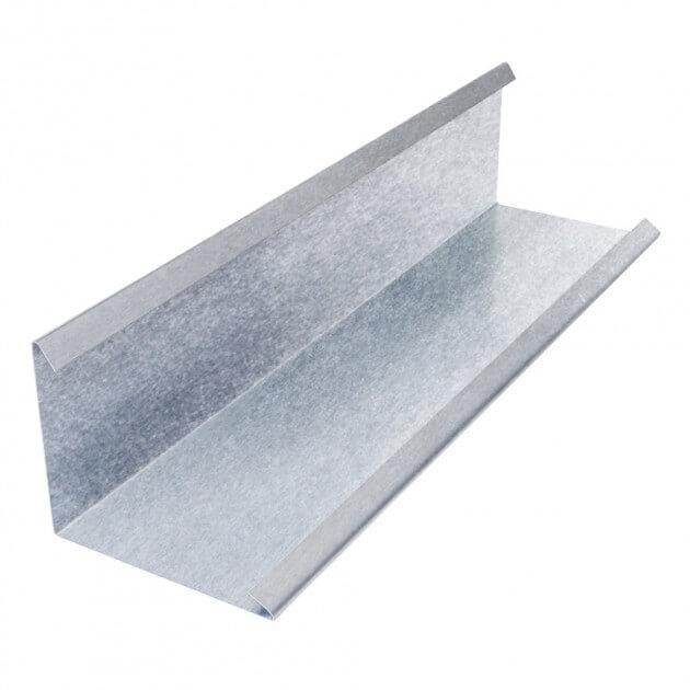 Wandanschlußblech mit 2 Falze aus Aluminium