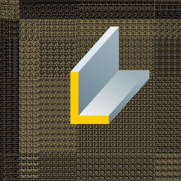 Winkelprofil aus Stahl ungleichschenklig