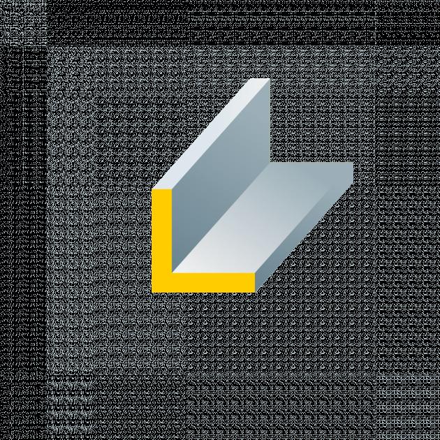 Winkelprofil aus Stahl gleichschenklig