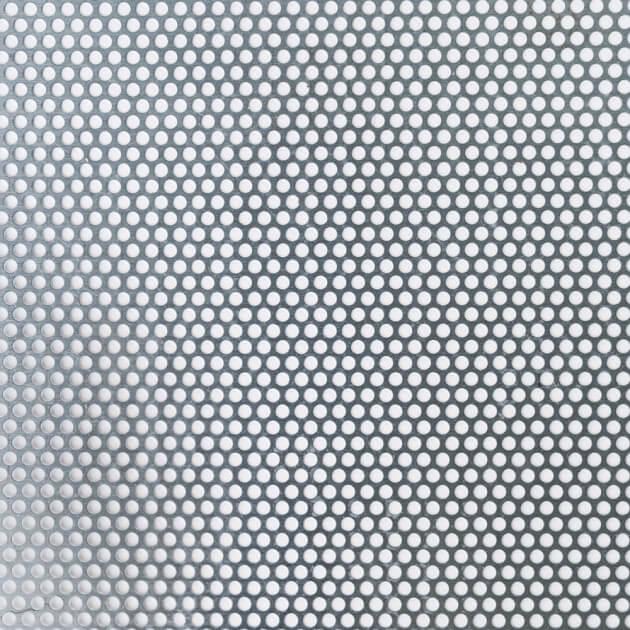 Blechzuschnitt aus Lochblech, Titanzink, Stärke 0,70 mm, Rundloch 5 mm