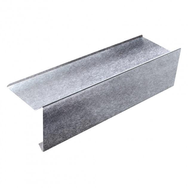 Ortgangblech mit Falz aus Aluminium