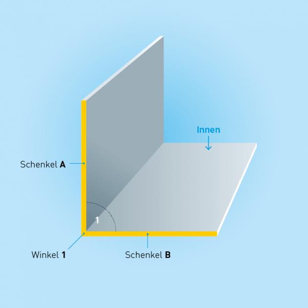 L-Profil aus Aluminium, Stärke 0,8 mm, Rundloch 5mm