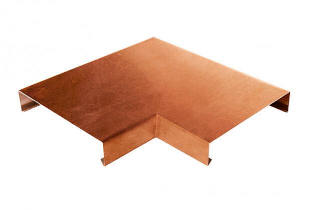 Mauerabdeckung 90° Ecke aus Kupfer